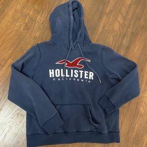 Navy blue Hollister hoodie